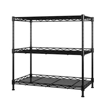 Adjustable 4 Tiers Supermarket Shelving / Metal Wire Basket Store Shelf for Sale