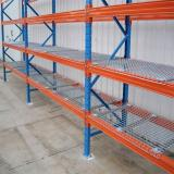 Hospital Industrial Wire Shelving, Pharmacy Storage Racks with 2 Tier Shelves